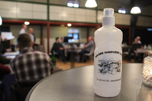 Solrød Vandværk vandflaske